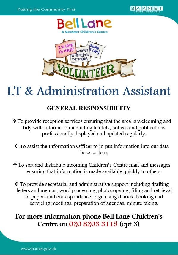 I.T Admin Volunteer