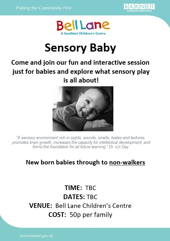 Sensory Baby Poster